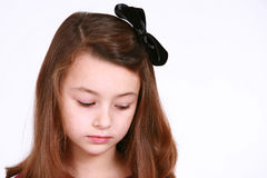 Little sad brunette Stock Photography
