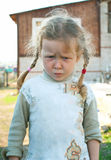 Little sad girl. The little sad girl. Outdoor. Shallow DOF Royalty Free Stock Image