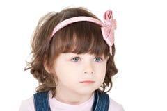 Little sad girl. Portrait of a beautiful little sad girl Stock Images