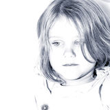 Little sad girl Royalty Free Stock Images