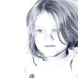 Little sad girl. Portrait of Little sad girl Royalty Free Stock Images