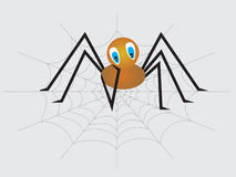 A little sad lonely spider Royalty Free Stock Image