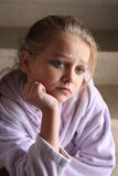 Little sad looking girl Royalty Free Stock Photography