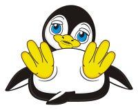 Little sad penguin Stock Image