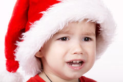 Little sad santa Stock Image