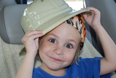 Little safari man Royalty Free Stock Photo