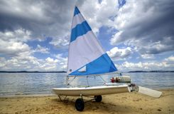 Little Sailboat. A small sailboat on a beach Stock Image