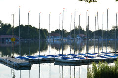 Little sailboats Stock Photography