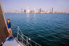 Little sailor stock image