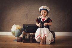 Little sailor royalty free stock photos