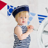 Little sailor fashion Royalty Free Stock Image
