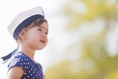 Little sailor girl Stock Photography
