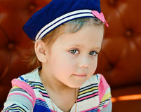 Little sailor girl Stock Image