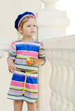 Little sailor girl Royalty Free Stock Image