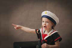 Little sailor stock photo