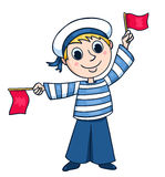 Little sailor Royalty Free Stock Image