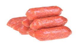 Little salami sausages Royalty Free Stock Images