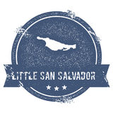 Little San Salvador Island logo sign. Royalty Free Stock Image