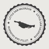 Little San Salvador Island sticker. Stock Photo
