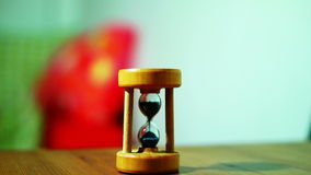 Little Sand Clock, real time. Little sand clock closeup, real time stock footage