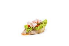 Little sandwich appetizer canapes. Fresh little sandwich appetizer canapes Royalty Free Stock Images