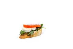 Little sandwich appetizer canapes. Fresh little sandwich appetizer canapes Royalty Free Stock Image