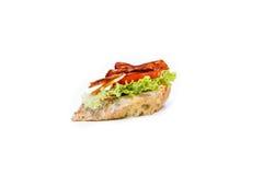 Little sandwich appetizer canapes. Fresh little sandwich appetizer canapes Royalty Free Stock Photos