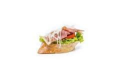 Little sandwich appetizer canapes. Fresh little sandwich appetizer canapes Royalty Free Stock Photography