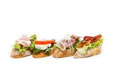 Little sandwich appetizer canapes. Fresh little sandwich appetizer canapes Stock Photo