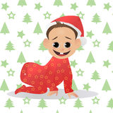 Little Santa. Baby  Claus. The first Christmas and New Year. Stock Images