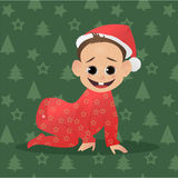 Little Santa. Baby  Claus. The first Christmas and New Year. Little Santa. Baby Santa Claus. The first Christmas and New Year for baby. Vector illustration Stock Images