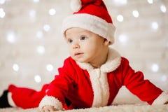 Little Santa baby stock photography