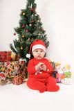 Little Santa Claus baby Royalty Free Stock Images