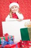 Little Santa Claus helper Stock Photography