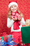 Little Santa Claus helper Royalty Free Stock Image