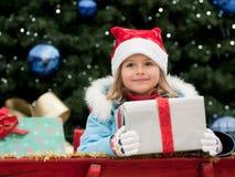Little Santa Claus helper Royalty Free Stock Image