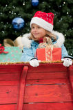 Little Santa Claus helper Stock Photography