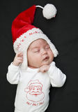 Little Santa Claus sleeping Stock Image