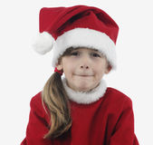Little Santa Claus ungry Royalty Free Stock Photo