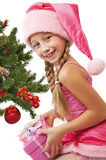 Little santa girl Royalty Free Stock Photos