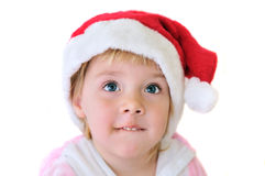 Little Santa girl Stock Photography