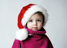 image photo : Little santa girl