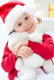 Little Santa girl Stock Images