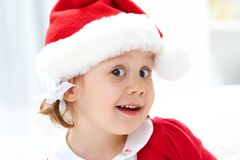 Little Santa girl Stock Image