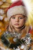 Little santa girl Stock Image