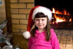 Little Santa girl Royalty Free Stock Photos