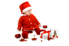 Little Santa helper Royalty Free Stock Image