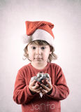 Little santa helper Royalty Free Stock Photography