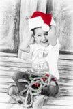 Little Santa stock photography