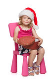 Little santa with present Stock Photography